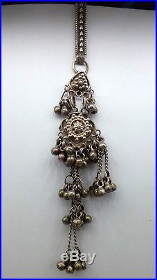 Vintage Old Silver Waist Key Chain Chhlla Fabulous Waist Belly Dance Jingle Bell