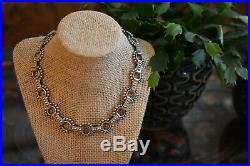 Vintage Ornate Mexico Sterling Silver Necklace 17 Fabulous