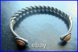 Vintage Silver Ethnic bracelet Namejs wich amber 36.45 g