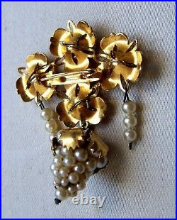Vintage Spanish demi parure brooch and earrings traditional folk jewelry