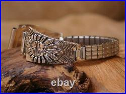 Vintage Sterling Silver Sun Face Watch Band