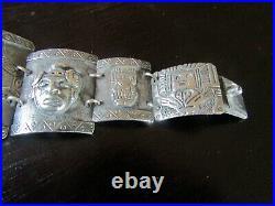 Vintage Storyteller Panel Bracelet SIGNED