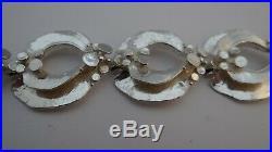 Vintage Theodor Klotz Teka Sterling Silver 925s Bracelet Germany 43 Grams