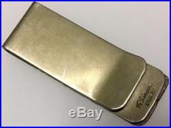 Vintage Thomas Tommy Singer Navajo Sterling Silver Money Clip #2 Mark Signed Old