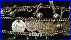 Vintage Tribal Statement Necklace Banjara Handmade Gypsy Coins Belly Dance