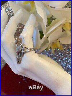 Vintage Unisex Sterling Silver 925 3d Horse Ring Sz 6.5