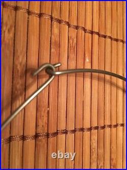 Vintage Wood Metal Tribal Choker Necklace