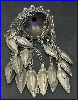 Vintage and rare old Afghan turkmen silver tribal with carnelian stone wonderful