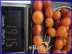 Vintage press amber necklace