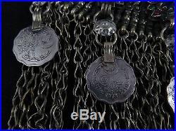 Vtg Afghan Tribal Kuchi Gypsy Belly Dancer Choker Necklace Pakistan Paisa Coins