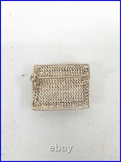 Vtg Carved Bovine Bone Japanese Asian Bracelet & Brooch Japan #F110