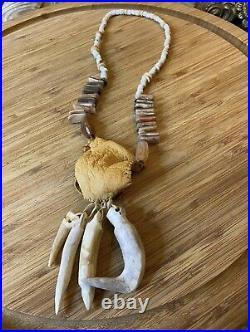 Vtg Medicine Man Necklace Native American