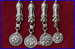 Wholesale, 8 Rare Tribal Solid Silver Bead, Antique silver beads
