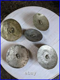 XL Set of Tribal Buttons Buckles Adornment Unique Set of 5x (#8952)