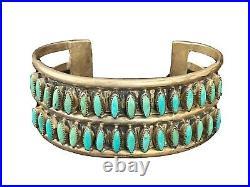 ZUNI Valentino & Matilda Banteah Sterling Silver Needlepoint Turquoise Bracelet