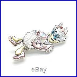 Zuni Handmade Sterling Silver Inlay Daisy Duck Pendant / Pin Andrea Shirley