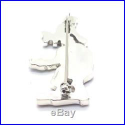 Zuni Handmade Sterling Silver Inlay Goofy Pendant/Pin Andrea Shirley