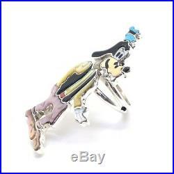 Zuni Handmade Sterling Silver Inlay Goofy Ring Size 6.5 Andrea Shirley