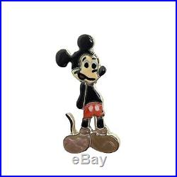 Zuni Handmade Sterling Silver Inlay Mickey Mouse Pin / pendant- Andrea Shirley