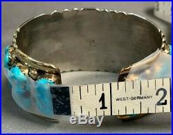 Zuni Native American Silver/Gold Bracelet by Robert Bernice Leekya