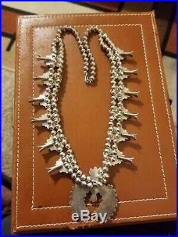 Zuni Vintage Squash Blossom Necklace